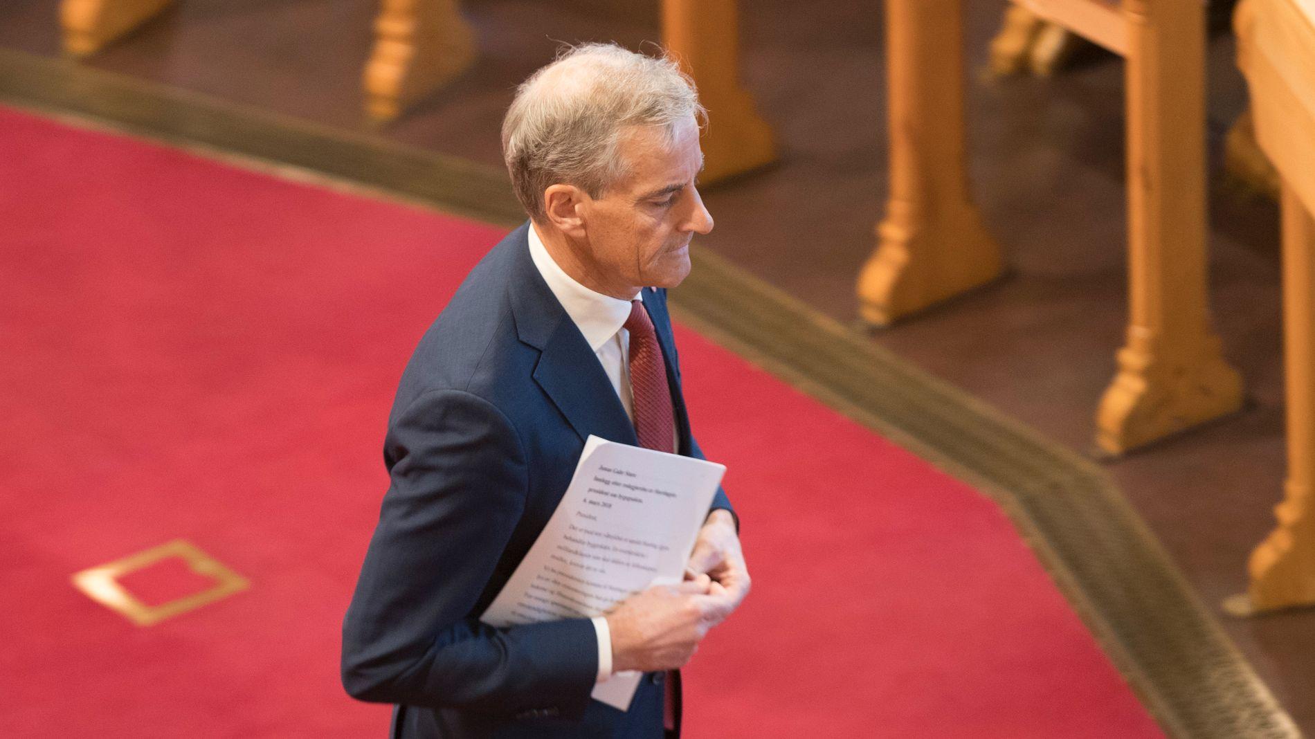 AVGJØR: Arbeiderpartiet og Jonas Gahr Støre kan få siste ord i saken om norsk tilslutning til EUs tredje energimarkedspakke.