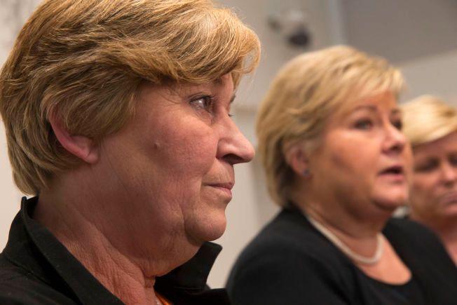 UENIGHET: LO-leder Gerd Kristiansen mener at pensjonsspørsmålene er så mange og så kompliserte at det ikke løses «en sen nattetime hos Riksmekleren». Men statsminister Erna Solberg (H) sier at partene selv har ansvar for eventuelle nye ordninger.