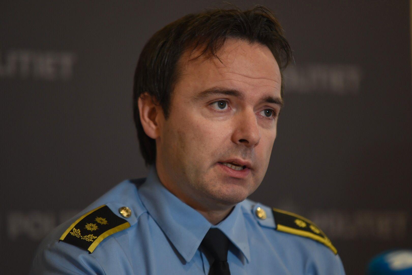 POLITIADVOKAT: Øyvind A. Rengård, her under Nordland politidistrikts pressekonferanse på Hamarøy Hotell tirsdag.
