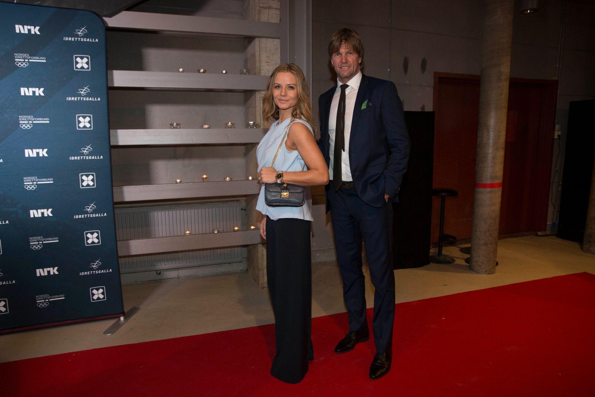 GÅR FRA HVERANDRE: Bjørn Maaseide og Christina Kløvstad var sammen på Idrettsgallaen i Hamar OL-amfi 6. januar. Nå er det slutt mellom dem.