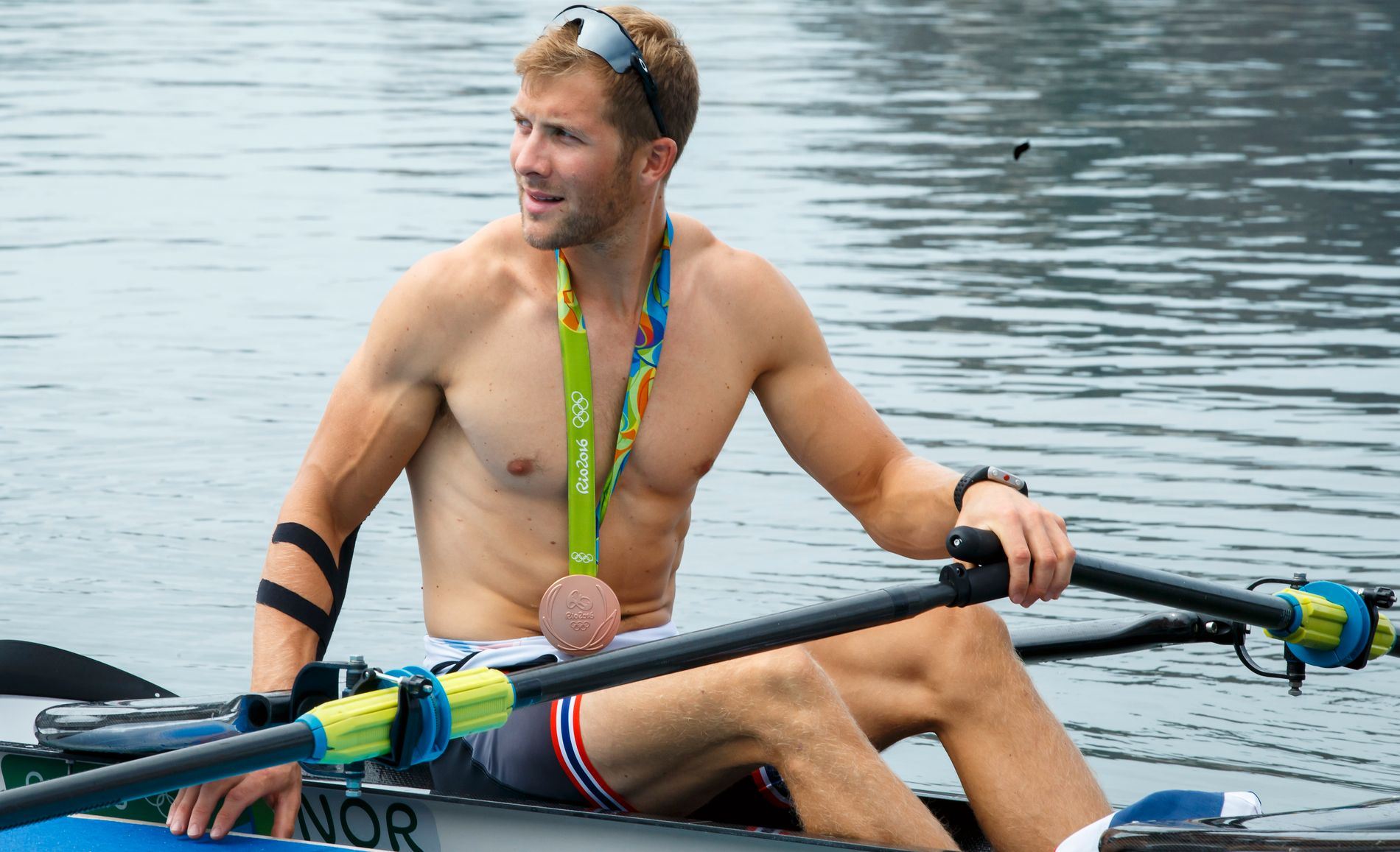STRIPPET: Kristoffer Brun er både verdensmester og tok OL-bronse i Rio (bildet). Men den suksessfulle roeren er helt helt strippet for sponsorkroner.