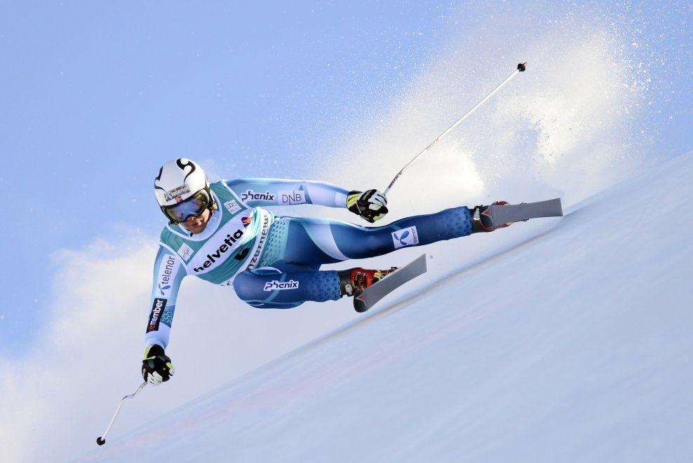 FULL FART: Adrian Smiseth Sejersted deltok i verdenscupen i utfor i Lenzerheide i Mars. Onsdag tok han NM-gull foran superstjernene. Foto: Afp