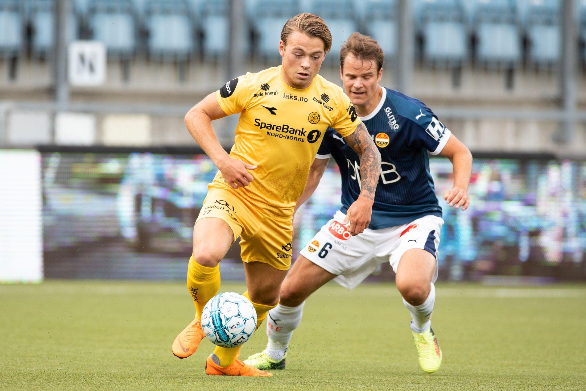 KLAR TIL KAMP: Patrick Berg spiller mot Viking. Her i match mot Strømsgodset.
