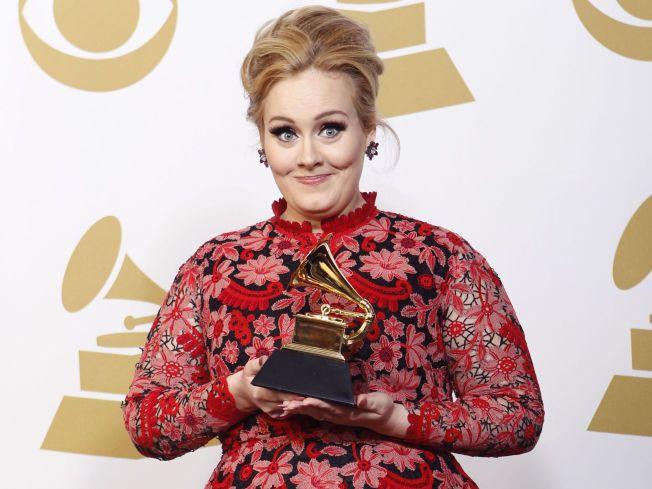 POPULÆR: I fjor fikk Adele Grammy for «Best Pop Solo Performance» for låten «Set Fire To The Rain».