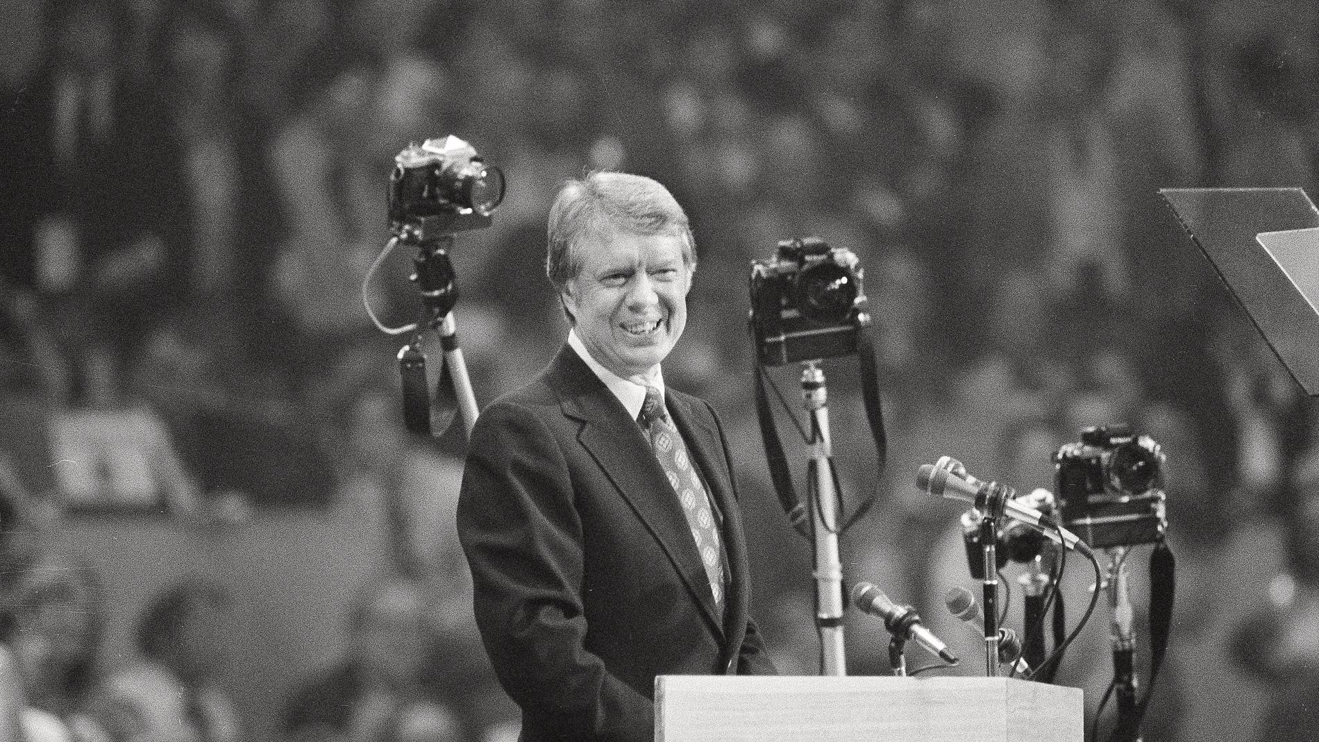 FIKK FIRE ÅR: Jimmy Carter satt kun én periode som president, fra 1977 til 1981.