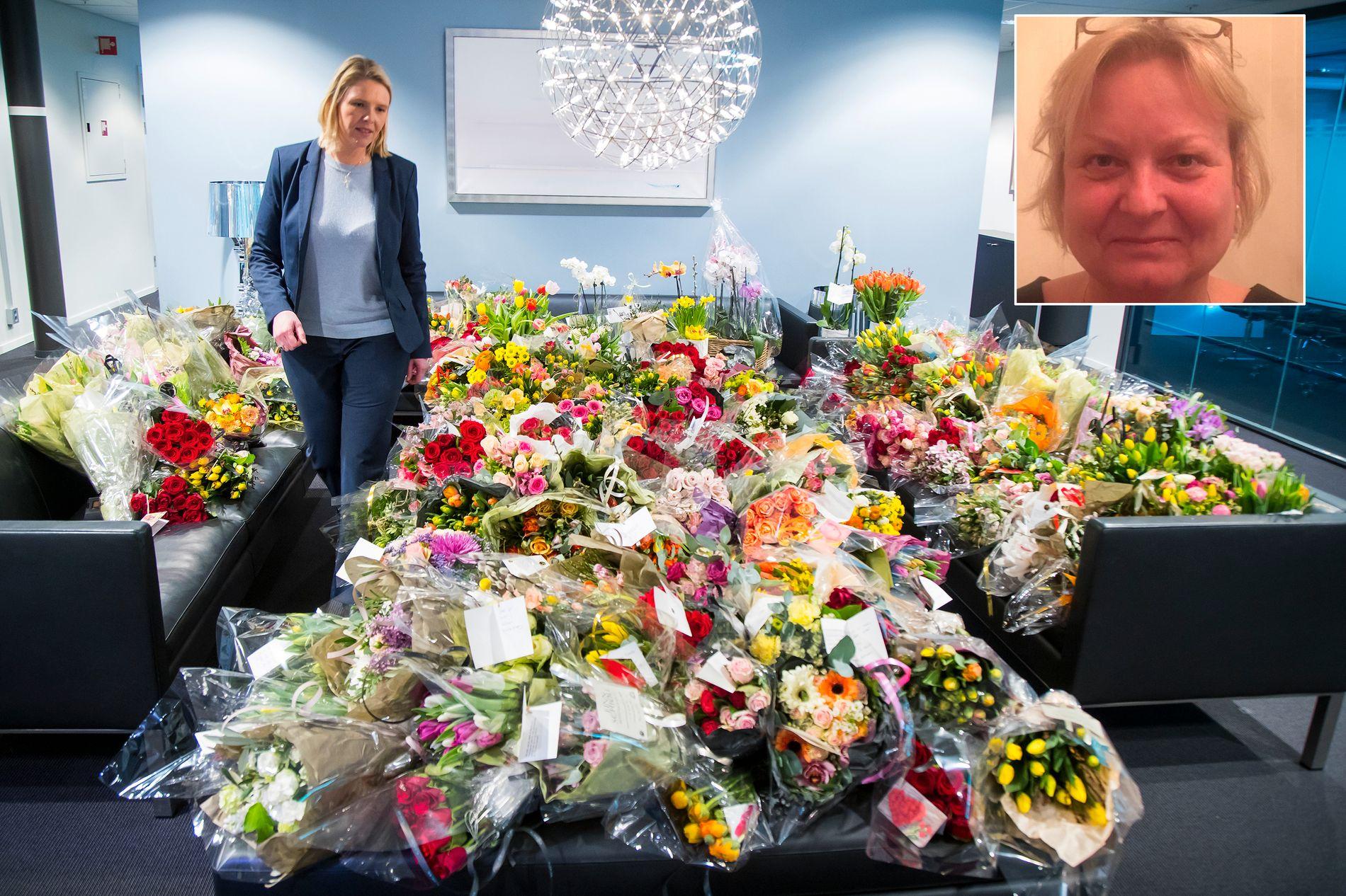 OPPFORDRET: Ruth Marie Vaagø oppfordret folk til å sende blomster til Sylvi Listhaug. Foto: Heiko Junge, NTB Scanpix/Privat
