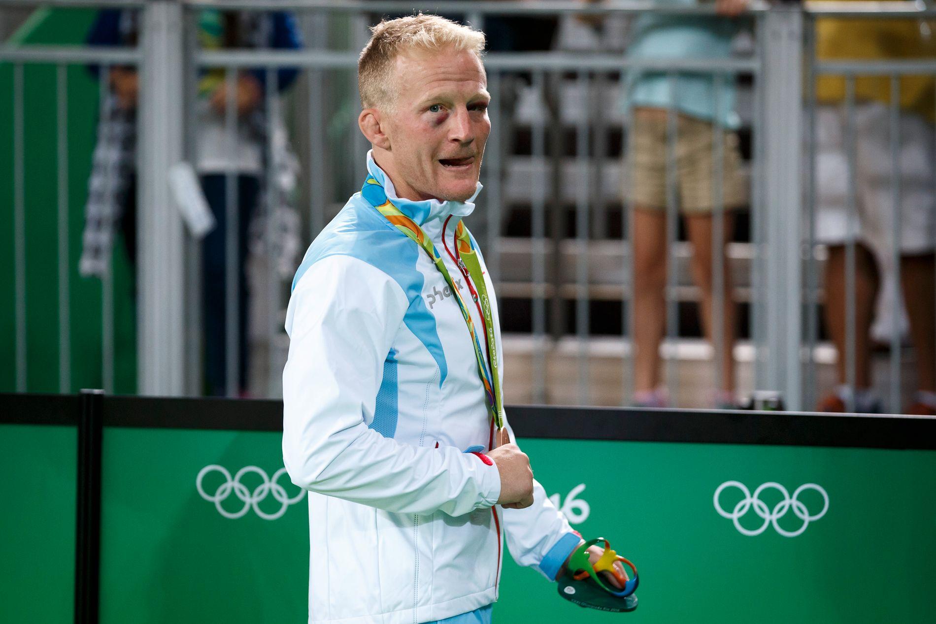 BRONSEGUTT: Stig-André Berge var rørt etter å ha vunnet bronse i 59 kg-klassen i Rio de Janeiro.