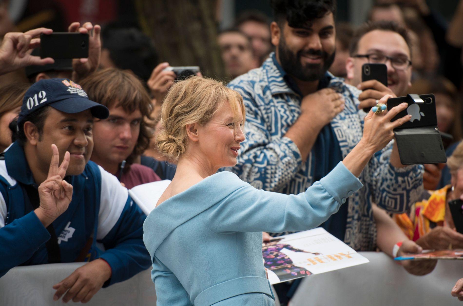 I VINDEN: Renée Zellweger på førpremieren til «Judy» på filmfestival i Toronto tirsdag denne uken.