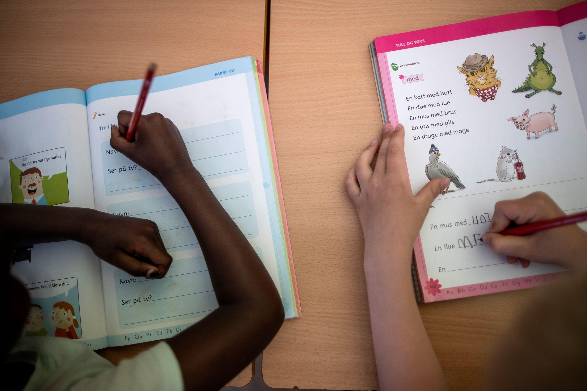 MUS MED HATT? Oppgaver skal løses for elevene i klasse 1a på Hønefoss skole.