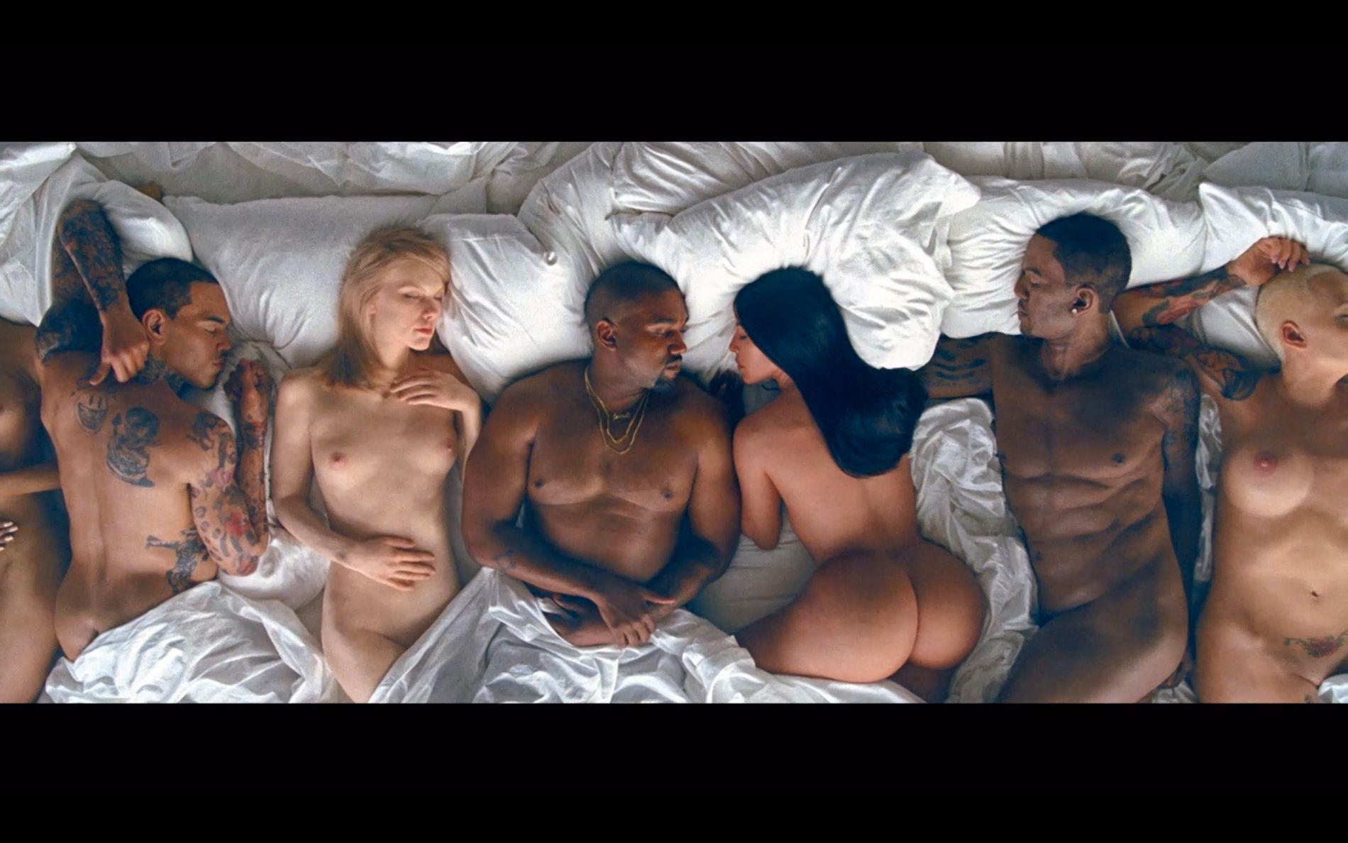 HISTORIE: De fleste kjendisene som ligger i senga har en historie med Kanye West eller kona hans Kim Kardashian.