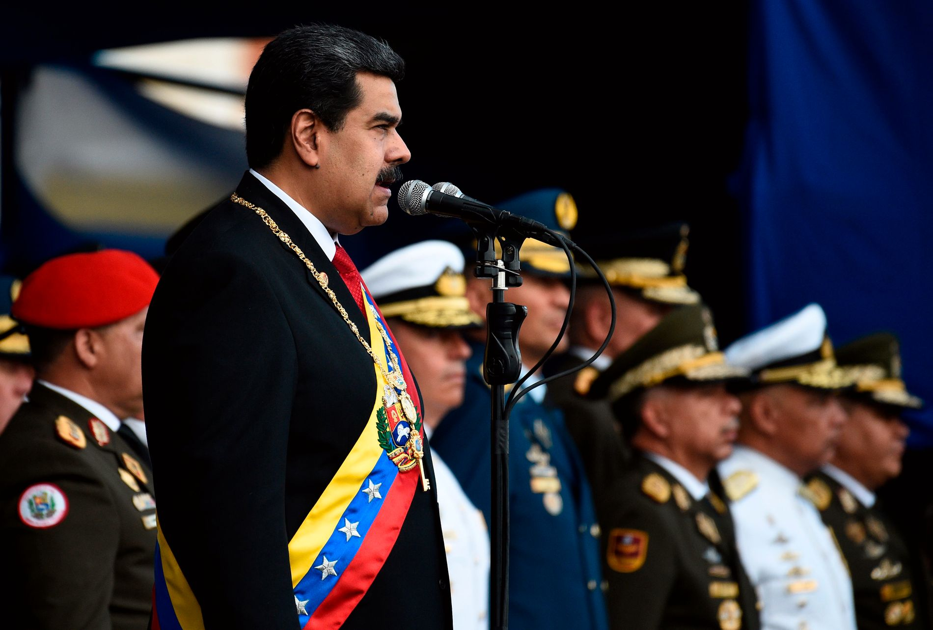 UNDER PRESS: Venezuelas president Nicolas Maduro.