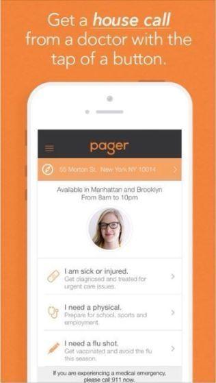 HELSE-APP: Mobil-appen Pager tilbyr muligheten til å bestille lege hjem på døren. Foreløpig kun tilgjengelig i USA, men ehelse-ekspert Zachery Jiwa tror lignende apper vil dukke opp flere steder.