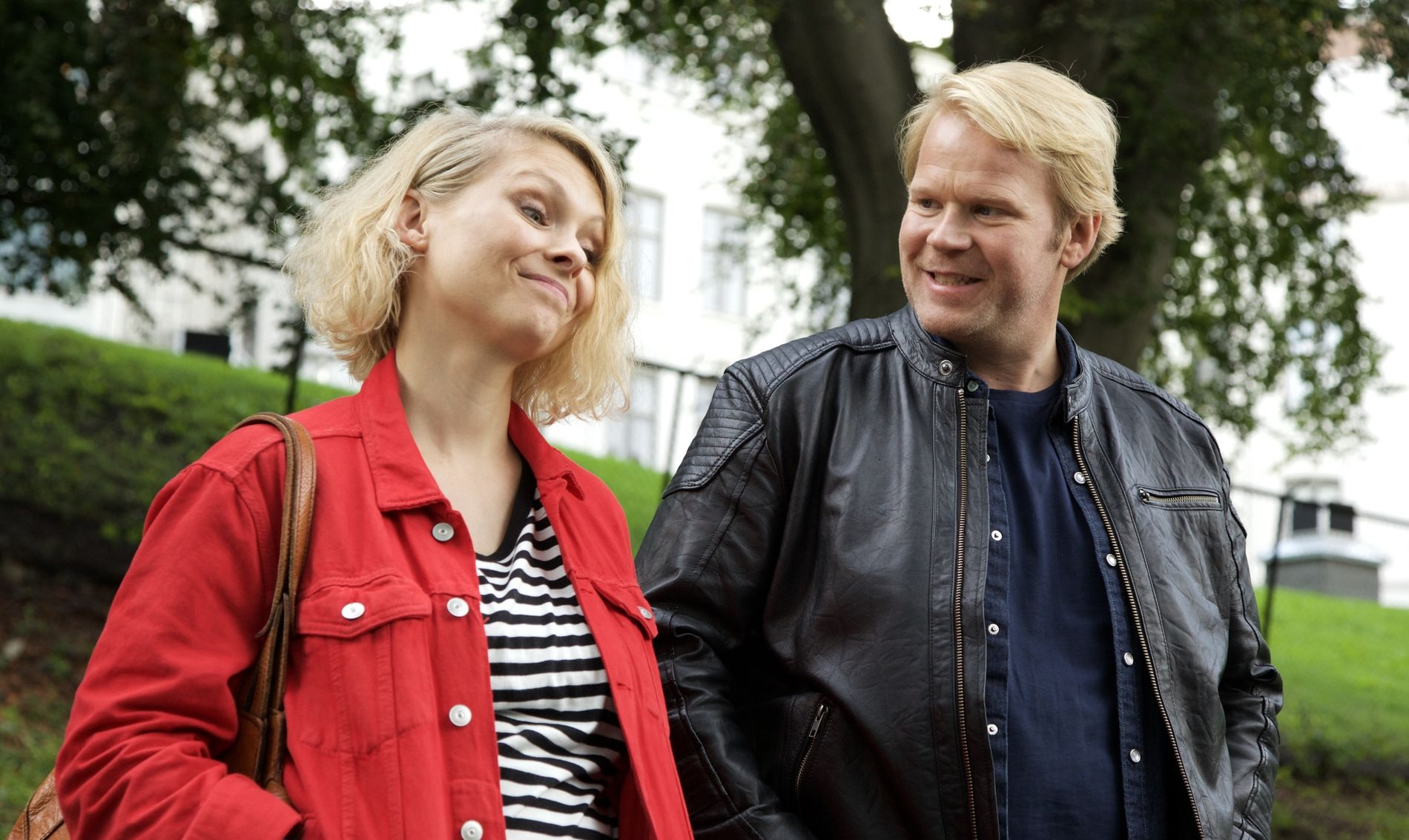 «EN NATT»: MyAnna Buring og Anders Baasmo Christiansen skal fylle 10 episoder, hver på en halv time.