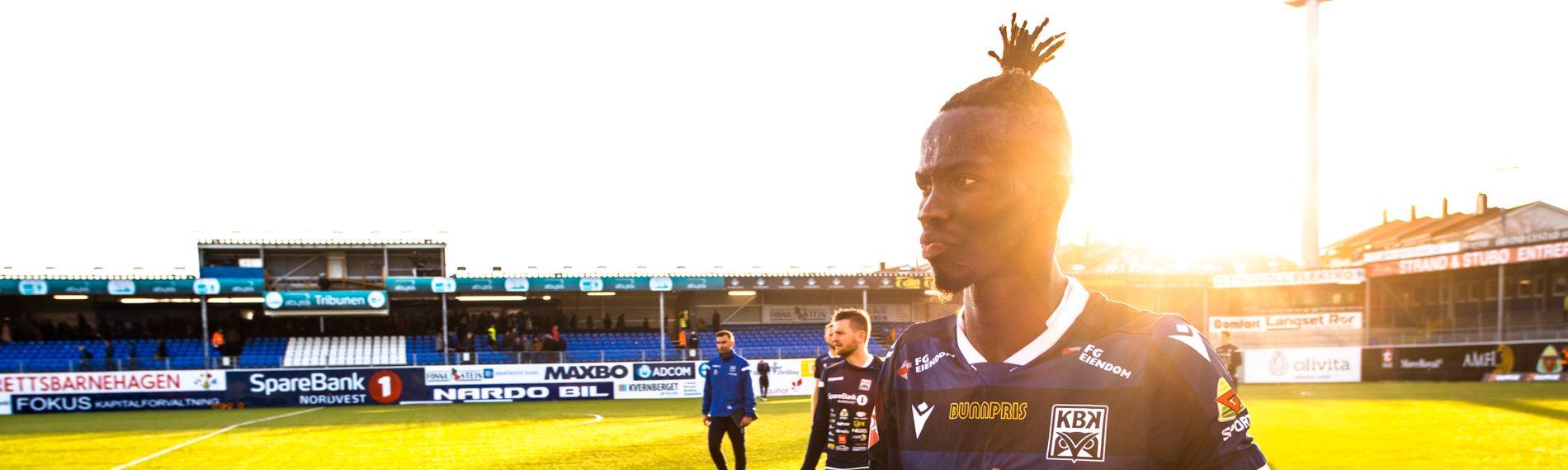 NUMMER 5: Amidou Diop. Her fra eliteseriekampen mot Ranheim på Kristiansund Stadion.