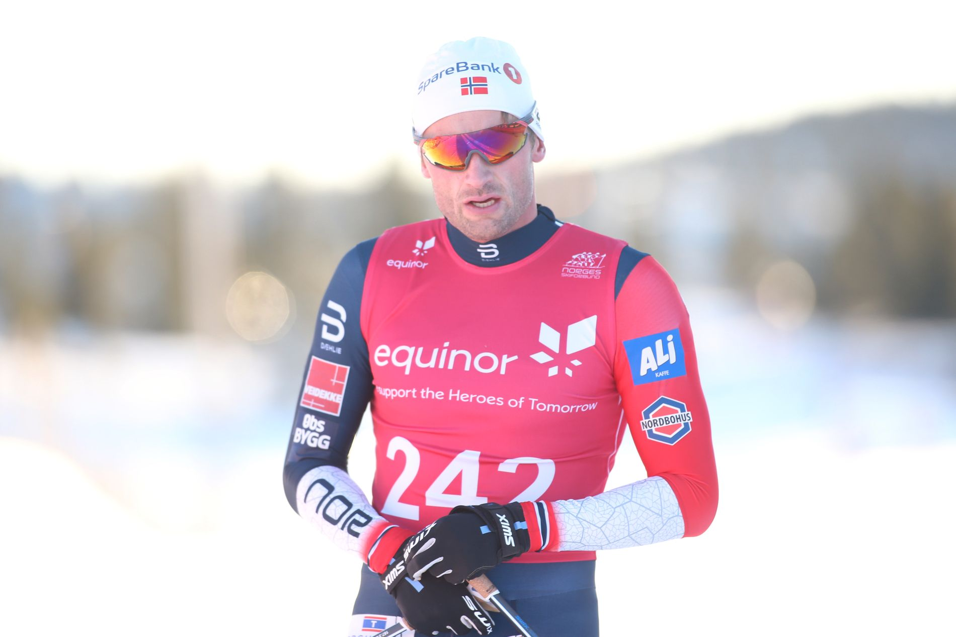 HARDØKT: Petter Northug fikk det tungt underveis på 15-kilometeren på Gålå, etter en frisk start på rennet.