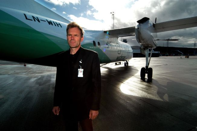 FLYPLASS-SJEF: Lasse Bardal er lufthavnsjef på Værnes ved Trondheim.