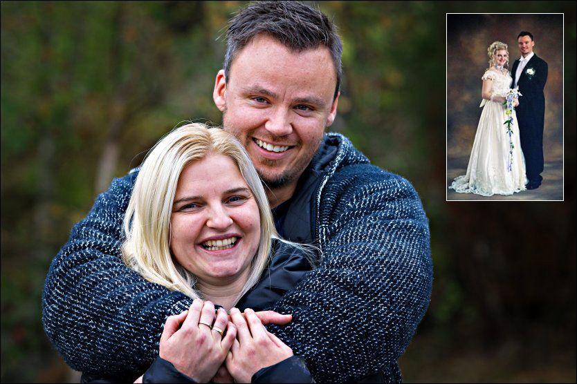 KJÆRLIGHET: Julie Anne Osaland (30) og Henrik André Rosså (33) giftet seg og fikk tre barn, men brøt samlivet etter fem år. Da separasjonen skulle bli til skilsmisse hadde Julie Anne ombestemt seg. Hun ville tilbake til Henrik André. Foto: Hugo Bergsaker / privat