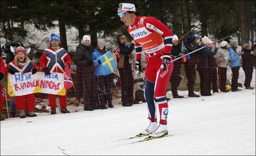 OVERLEGEN: Marit Bjørgen var overlegen på søndagens tremil i Holmenkollen. Foto: Scanpix