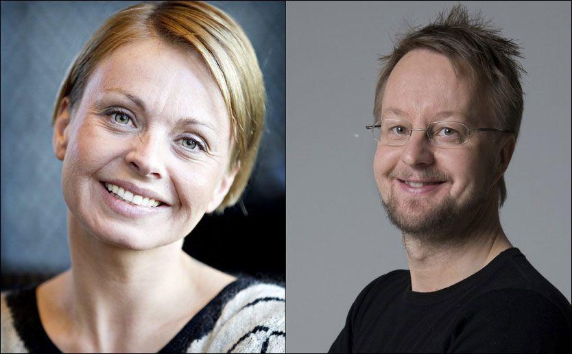 PROGRAMLEDERDUO: Marthe Sveberg Bjørstad (33) og Sigurd Sollien (45) har fått i oppdrag å lede reklamebransjens festkveld på TV 2. Foto: VG/Scanpix