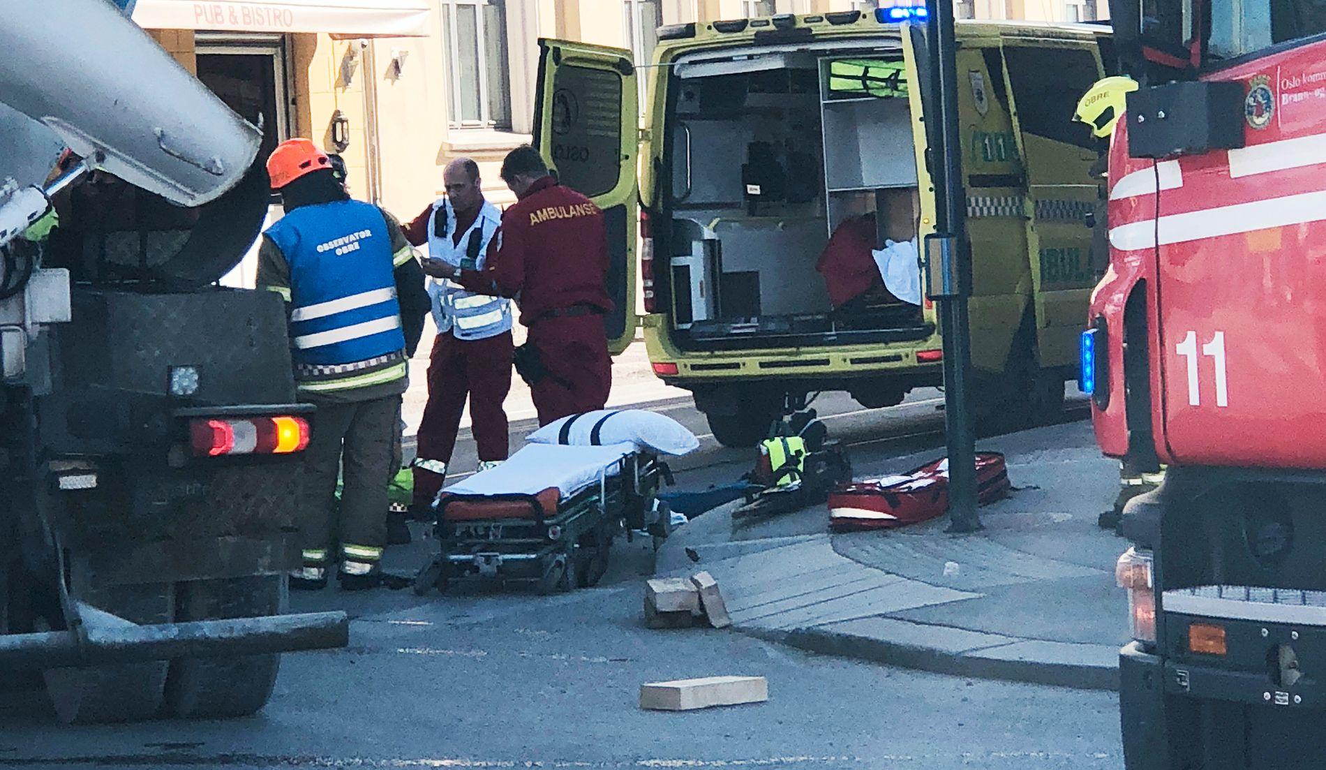 ALVORLIG: En syklist har kollidert med en lastebil i Oslo.