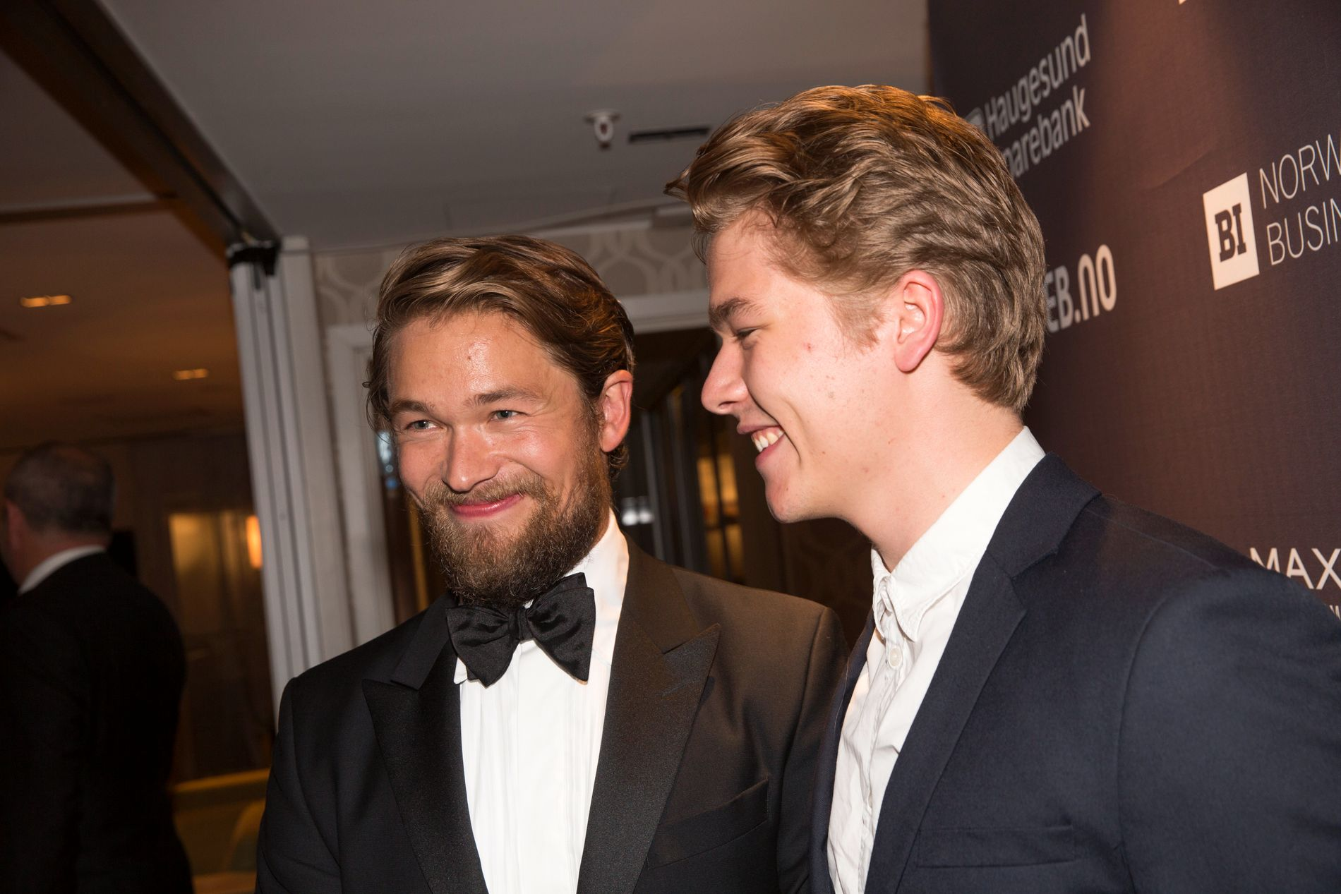 BRØDRE: Jakob Oftebro og Jonas Hoff Oftebro under filmfestivalen i Haugesund i 2016.
