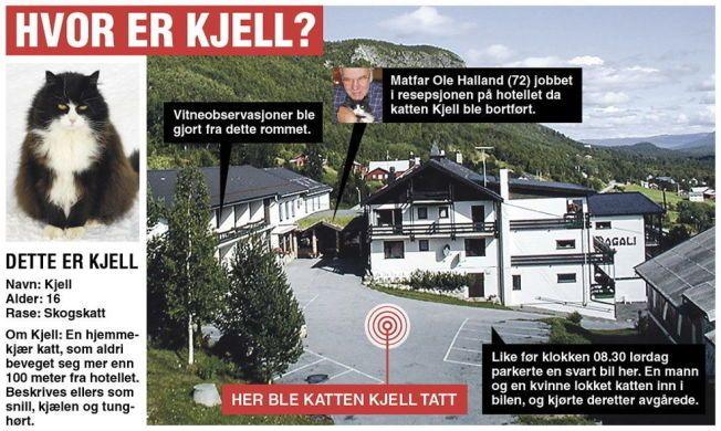 KIDNAPPET: Kjell forsvant fra denne parkeringsplassen utenfor Dagali hotell 28. juni.