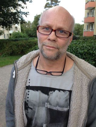 UROLIG FOR INNVANDRING: Lastebilsjåfør Lars Jonassen (52) stemte på Sverigedemokraterna.