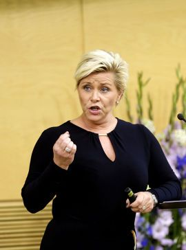 FÅR KRITIKK: Finansminister Siv jensen.