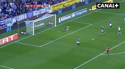 STYGT TAP: Her slipper Vadim Demidov og Real Sociedad inn 3-1-målet mot Espanyol. Foto: Skjermdump