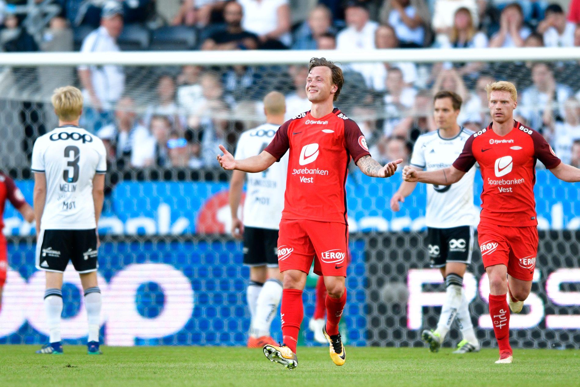 SCORET: Fredrik Haugen scoret mot Rosenborg på Lerkendal tidligere denne sesongen, men er suspendert i returen på Brann Stadion.