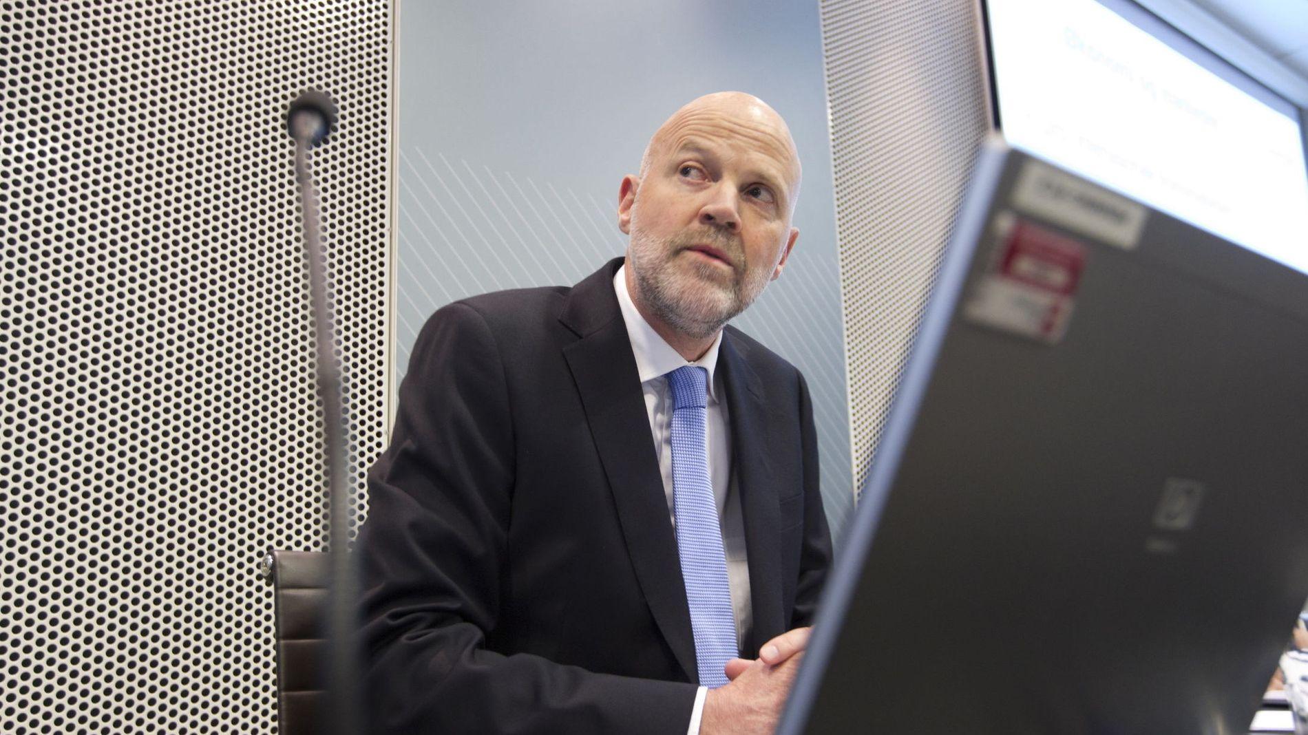 TØFFE TILTAK: Direktør i Finanstilsynet, Morten Baltzersen, mener han har presentert kraftige tiltak til finansminister Siv Jensen (Frp) og Finansdepartementet.