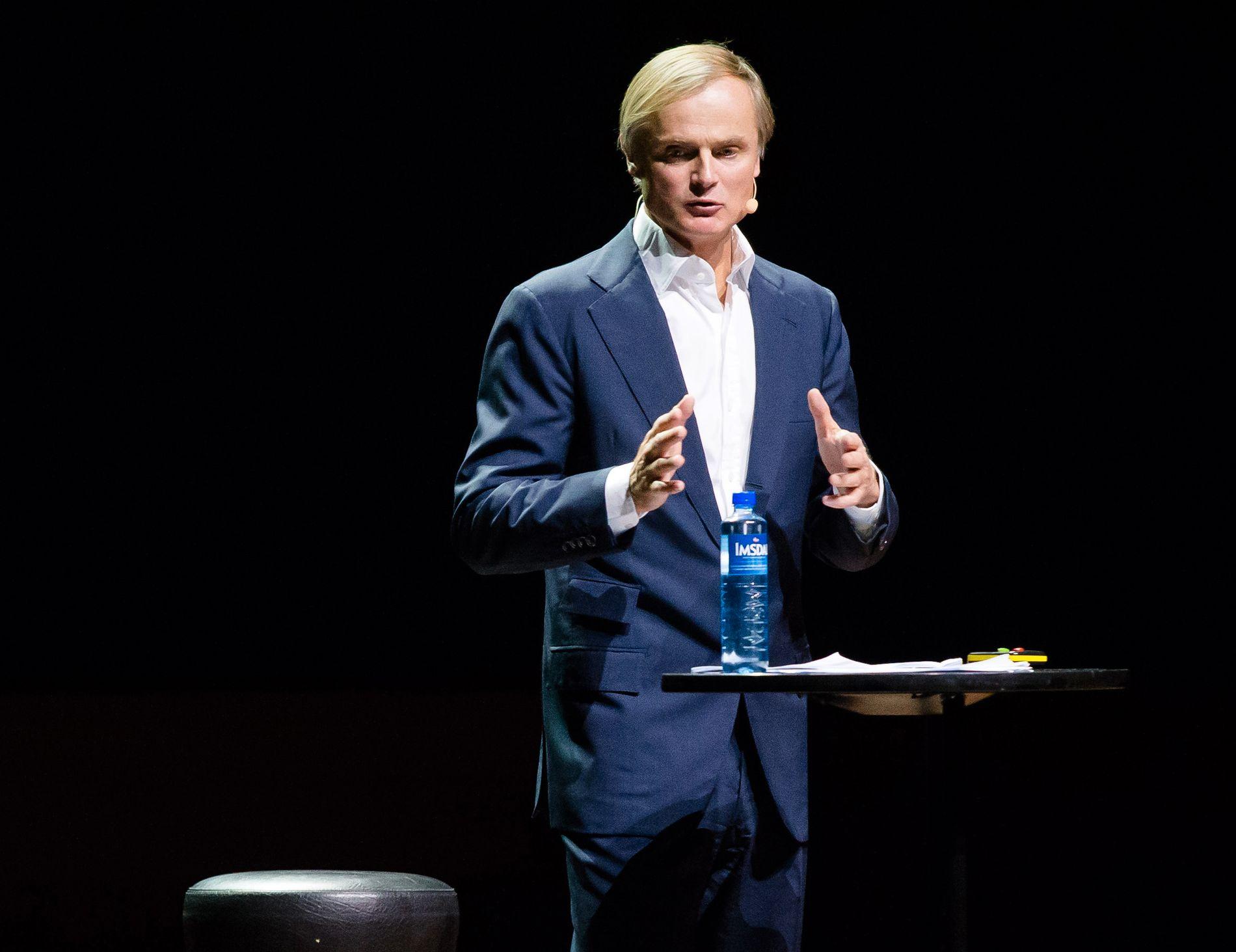 UT MOT HØYRE: Øystein Stray Spetalen anklager Høyre for å ta hensyn til de rike som gir partiet penger.