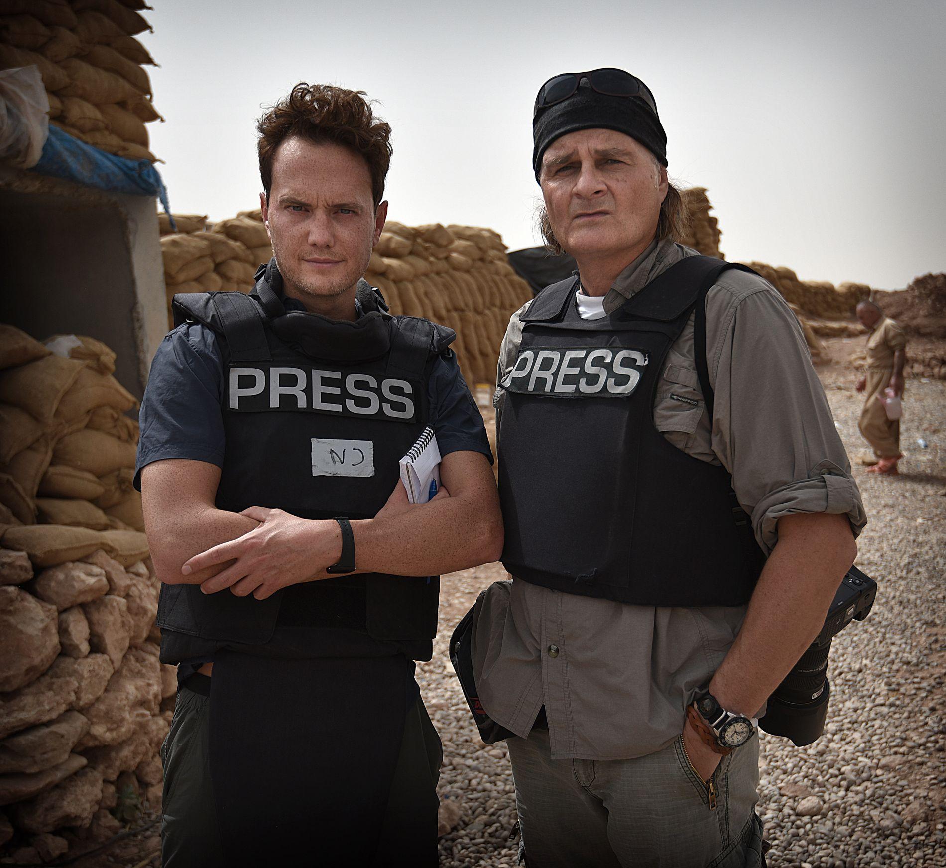 I IRAK: Korrespondent Nilas Johnsen og fotograf Harald Henden