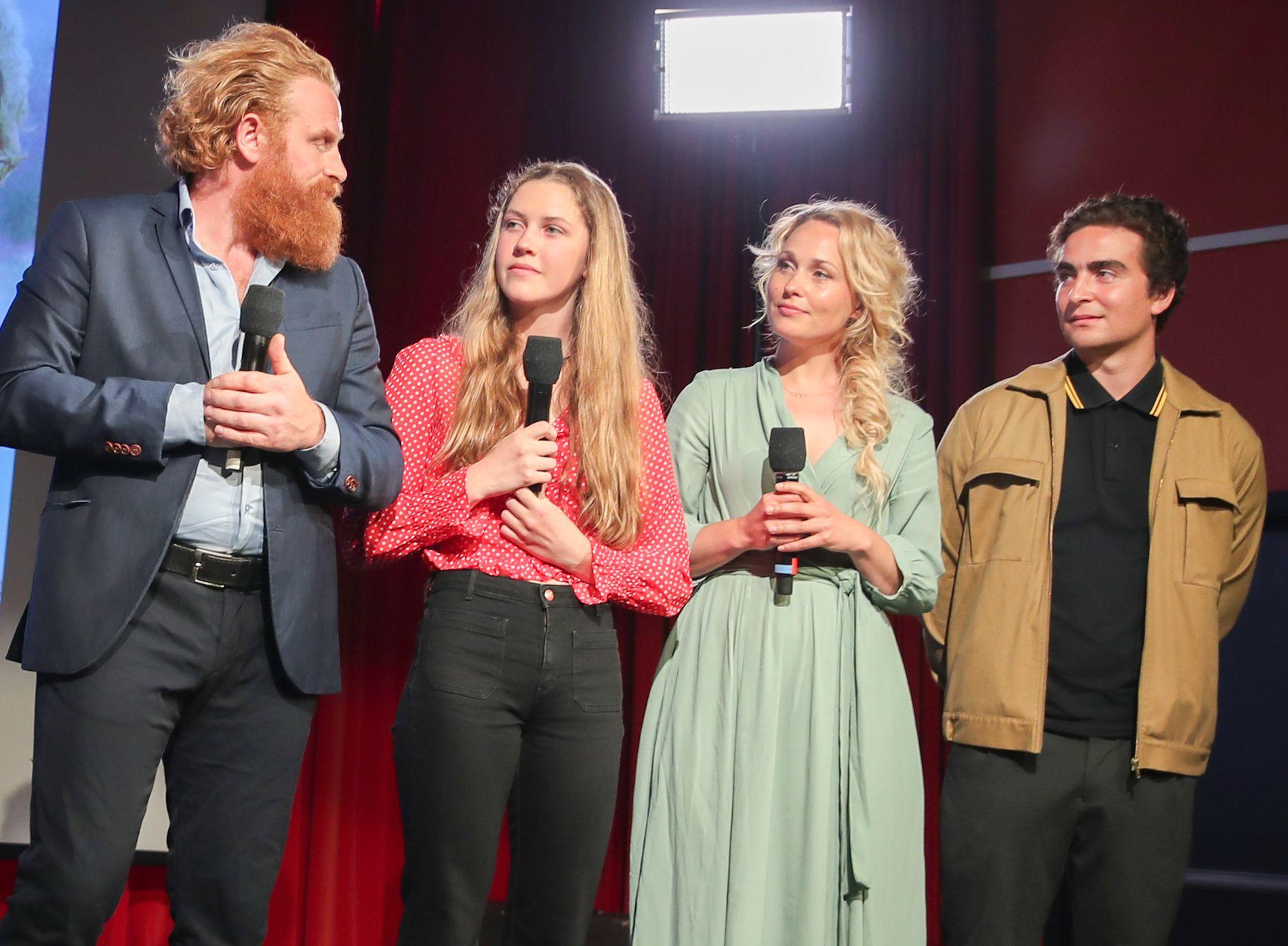 «TWIN»-KOLLEGER: Kristofer Hivju, Rebekka Nystabakk, Mathilde L.H. Cuhra og Marlon Langeland på NRKs høstlansering.