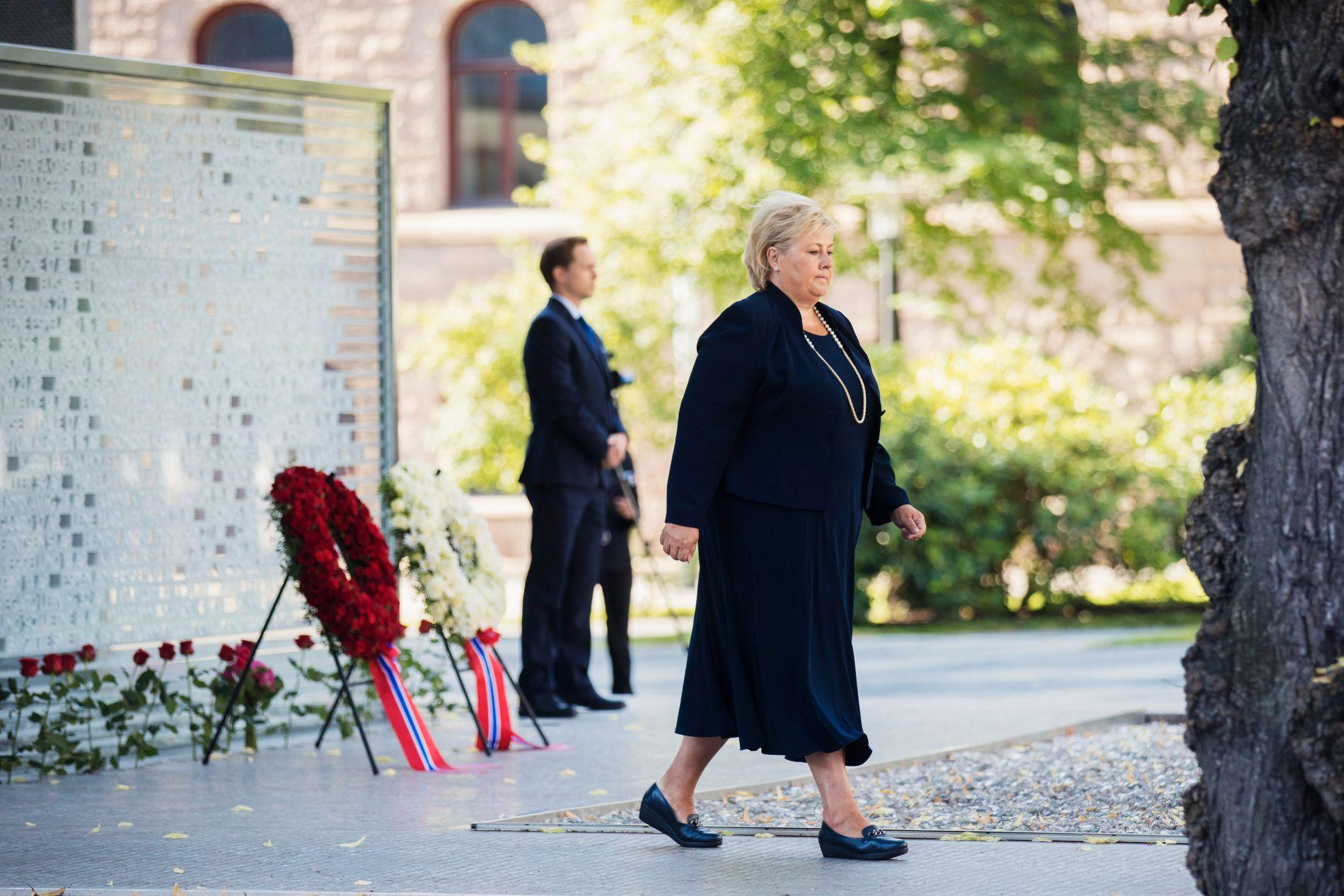 ENDRER PLANENE: Erna Solberg vil endre planene for Høyblokken slik at 22. juli-senteret skal ligge der det ligger i dag.
