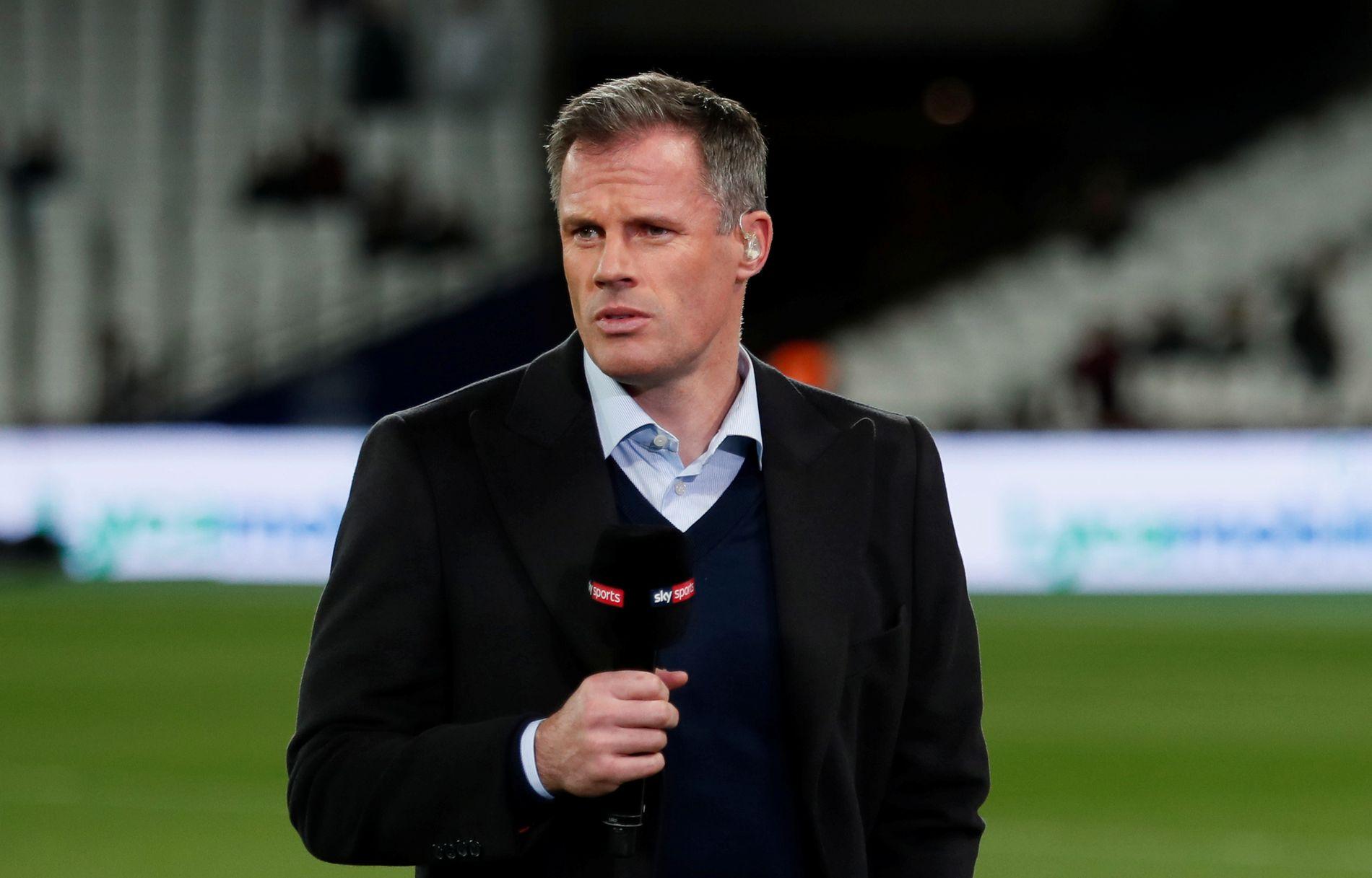 KJENT TV-FJES: Jamie Carragher har vært fotballekspert for den engelske TV-kanalen Sky Sports siden han la opp i 2013.