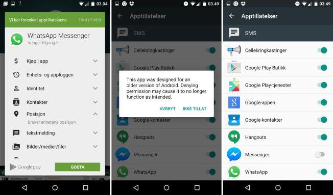 En av de viktigste nyhetene i Android 6 Marshmallow er muligheten til å bestemme apptillatelser selv.