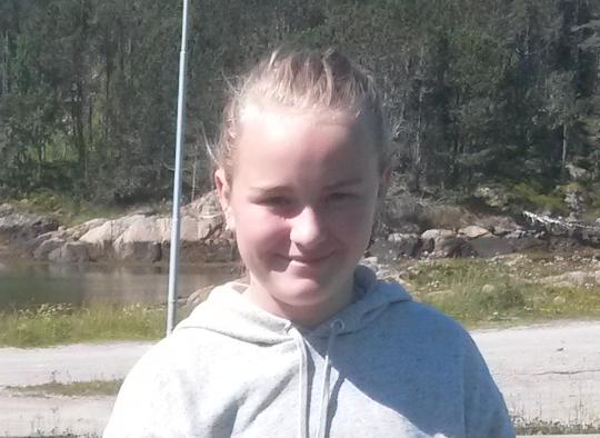DREPT: Sunniva Ødegård ble bare 13 år gammel.