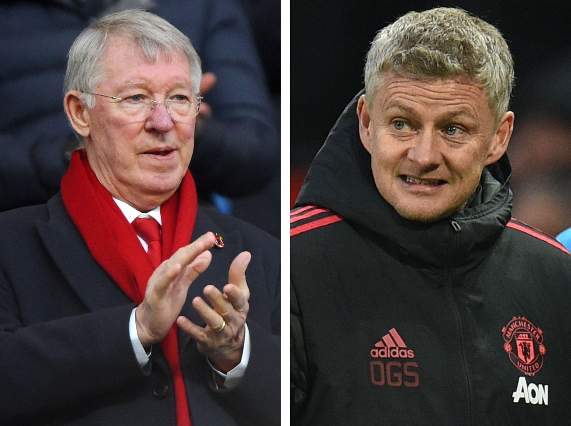 LÆREMESTEREN: Sir Alex Ferguson har hatt stor innflytelse på Ole Gunnar Solskjær, men nordmannen hevder at han ikke får særlig mye hjelp av skotten nå.