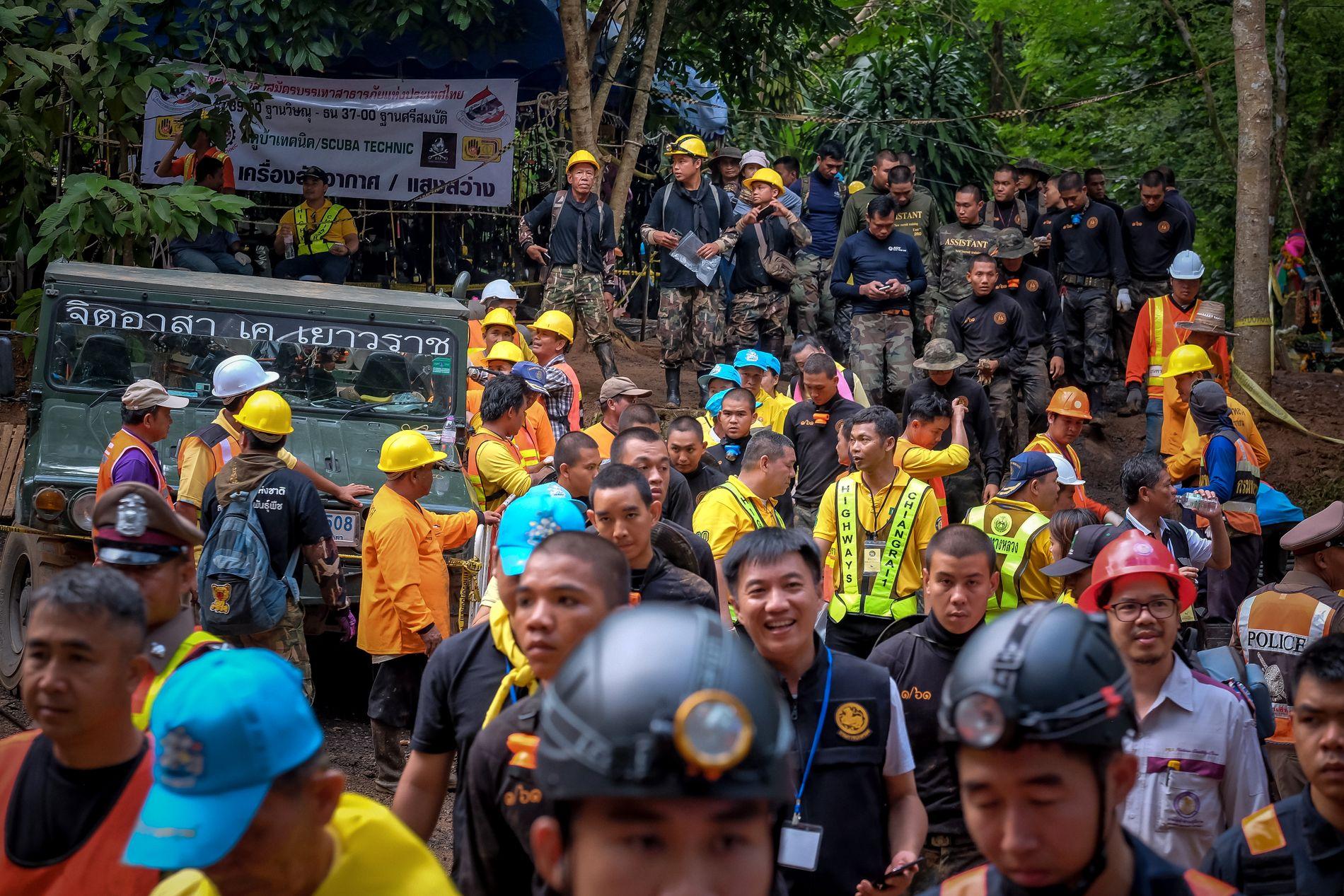 KJEMPEOPERASJON: Rundt 1000 mennesker deltar i den internasjonale redningsoperasjonen.