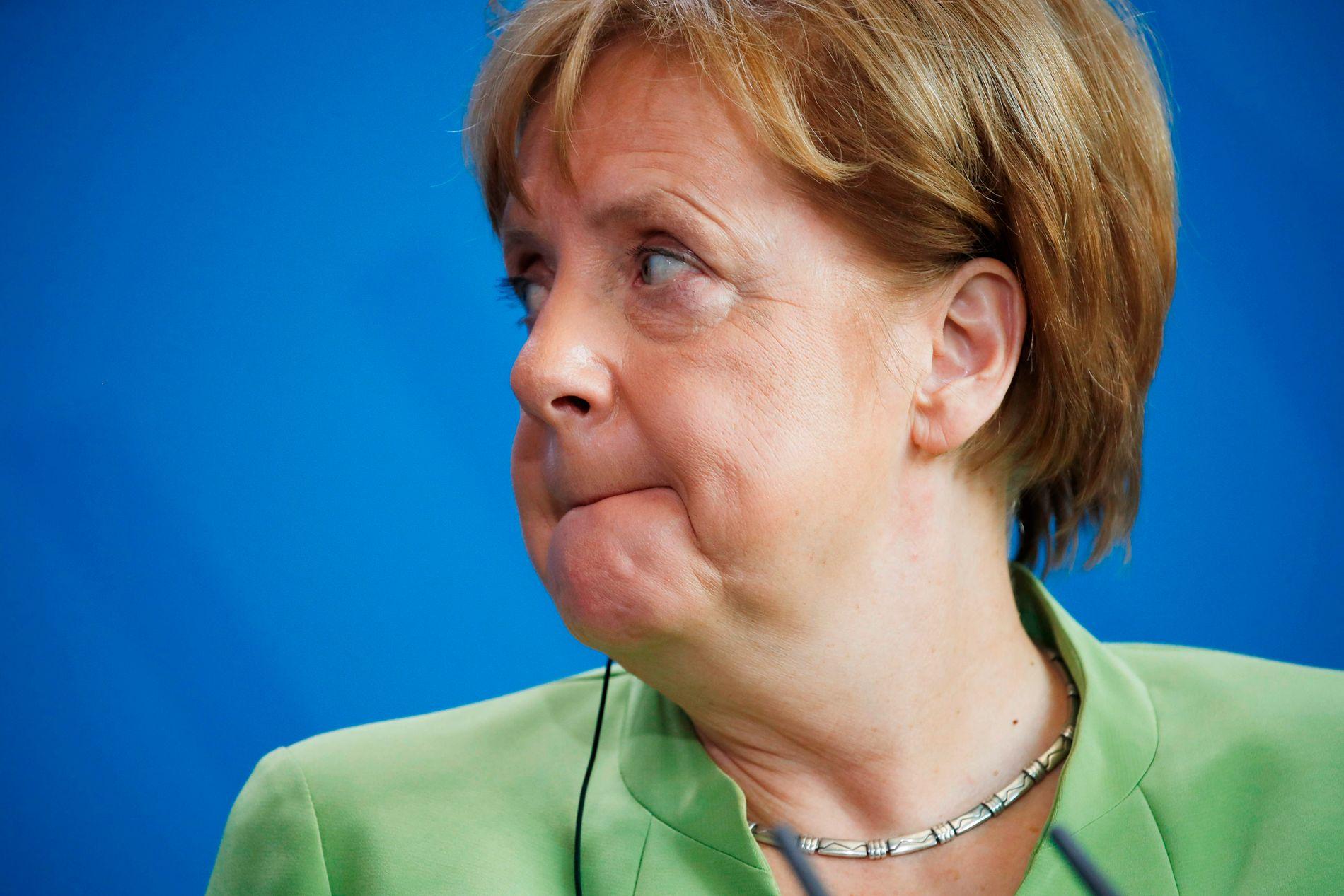 BEKYMRET: Angela Merkel, Tysklands forbundskansler.