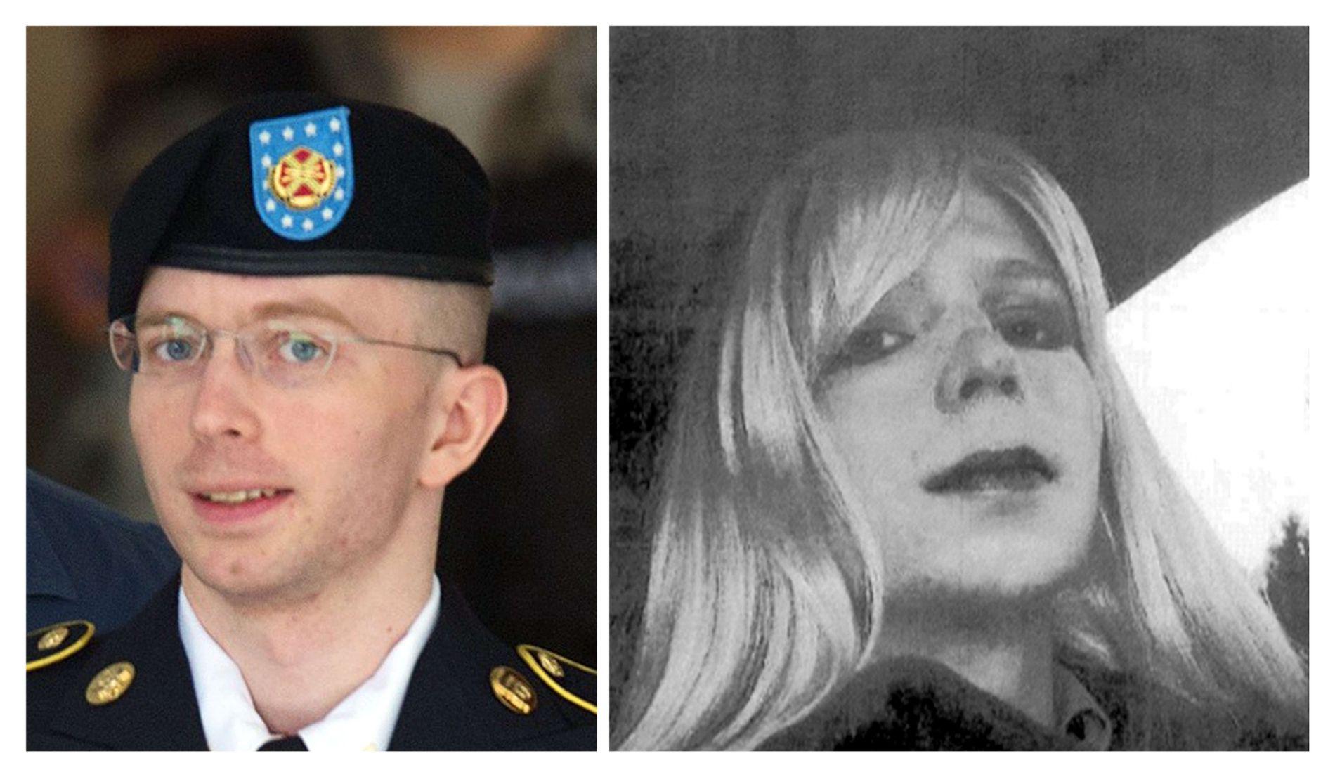 ENDELIG: – For første gang kan jeg se for meg en fremtid som Chelsea. Nå kan tenke meg muligheten av å leve som den personen jeg er - og kan endelig leve et liv i verden utenfor, heter det i en uttalelse fra Chelsea Manning, tidligere Bradley Manning (t.v).