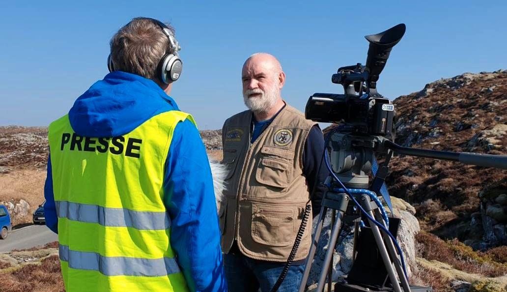 FRYKTER FOR DYRELIVET: Hans Anton Grønskag tror havørnene og hubroen vil bli skadelidende av de planlagte vindturbinene.