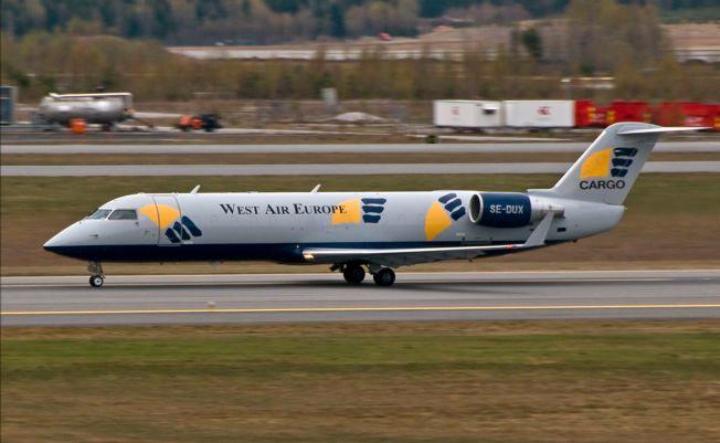 PILOTENE OMKOM: Det var dette West Air-flyet som forsvant fra radaren vest for innsjøen Akkajaure i Sverige 8. januar, på vei fra Gardermoen til Tromsø. Den spanske kapteinen (42) og den franske styrmannen (34) omkom.