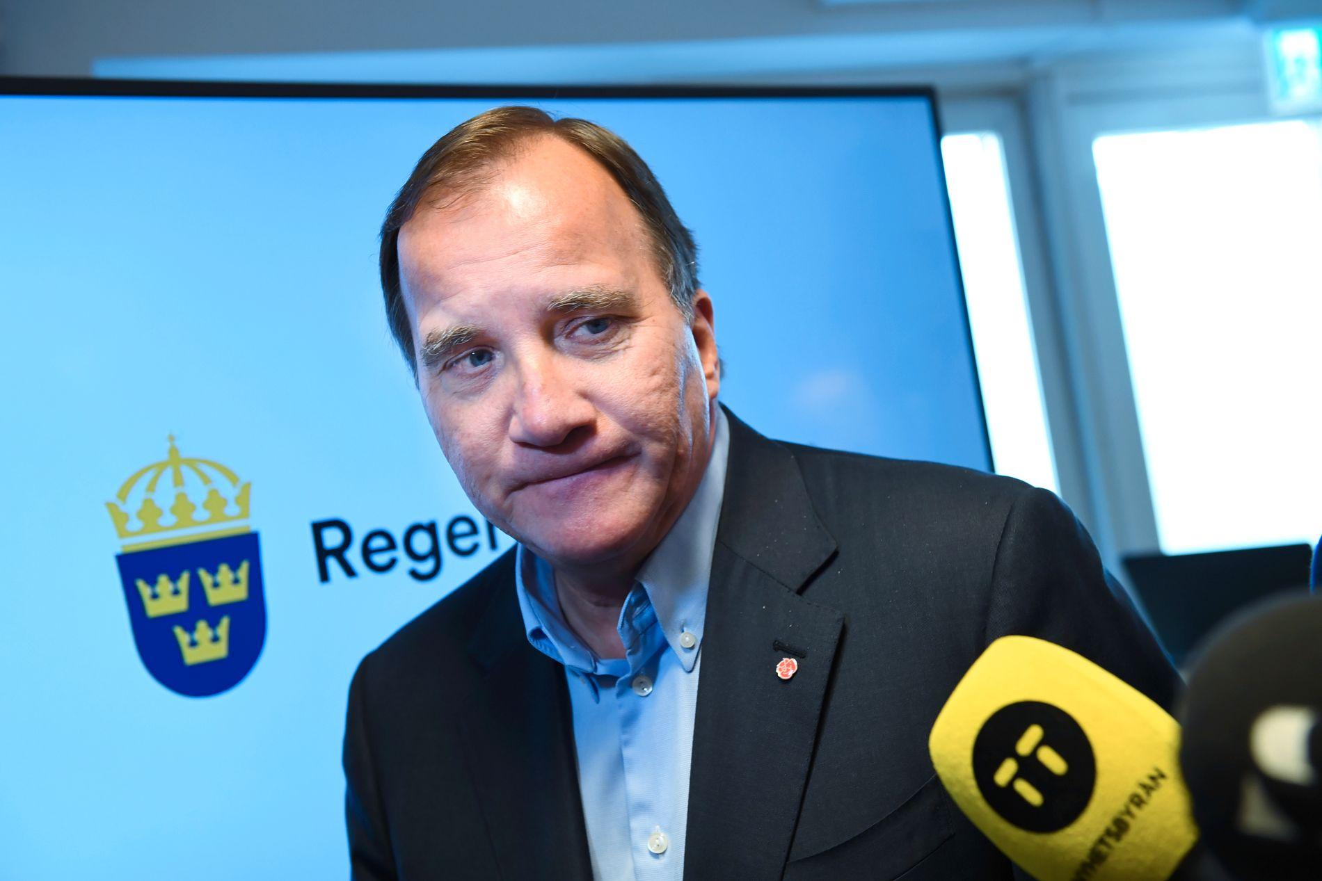 DÅRLIGE TALL: Statsminister Stefan Löfven og Socialdemokraterna sliter med oppslutningen fire måneder før valget i Sverige