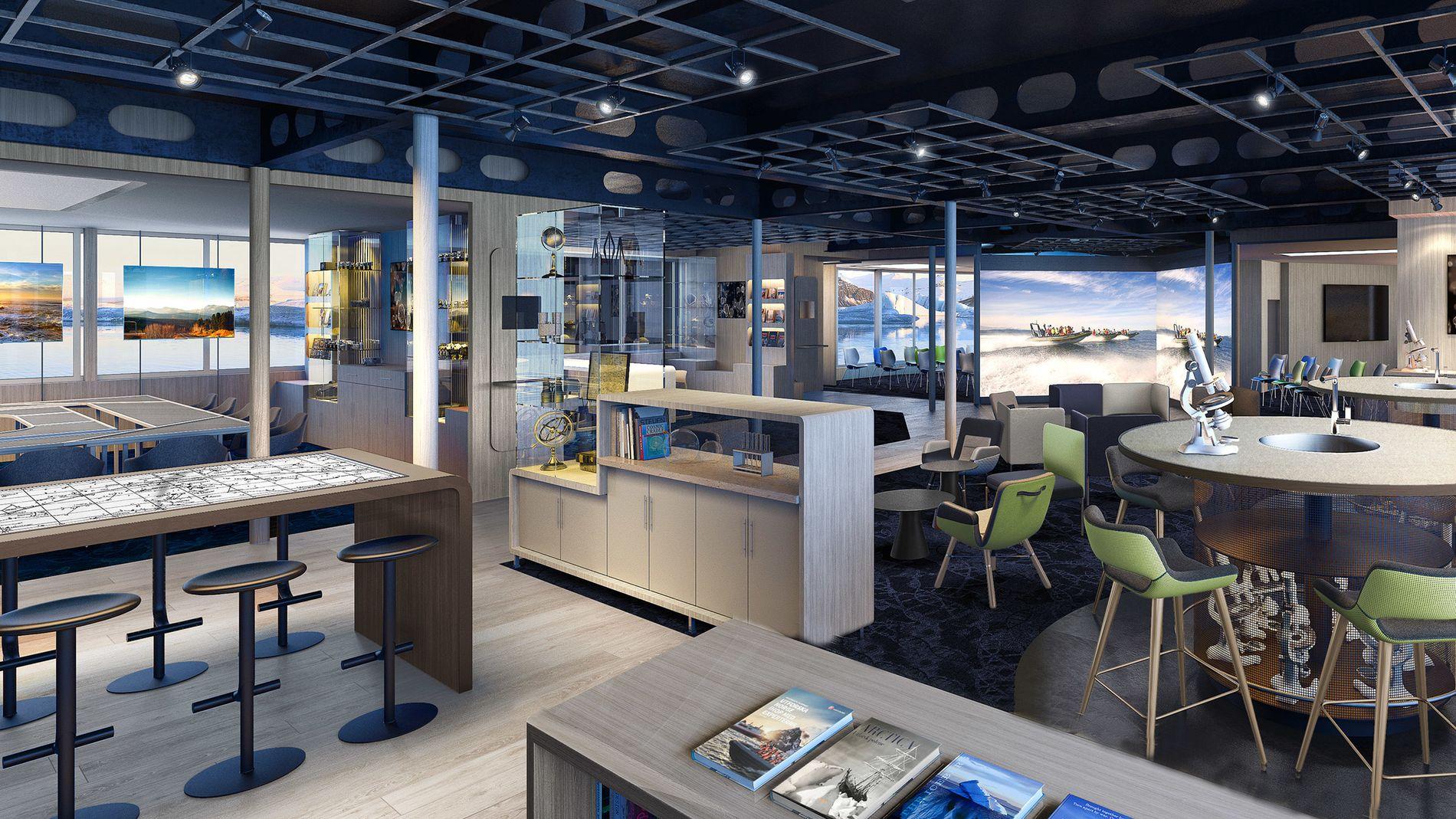 Ombord på det nye hybrid ekspedisjonsskipet MS Fridtjof Nansen til Hurtigruten er det laget plass til et eget «Nansen Vitenskapssenter»