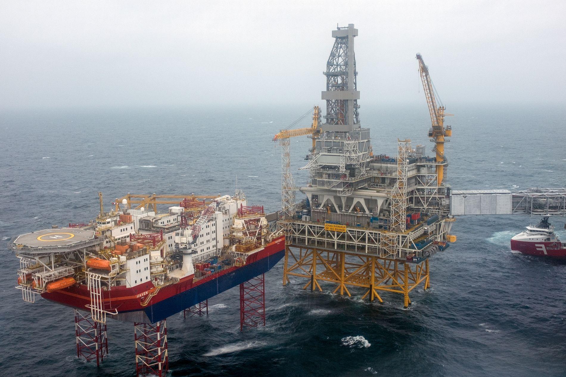 Oppstarten av Johan Sverdrup-feltet i Nordsjøen ble nylig fremskyndet til oktober i år.