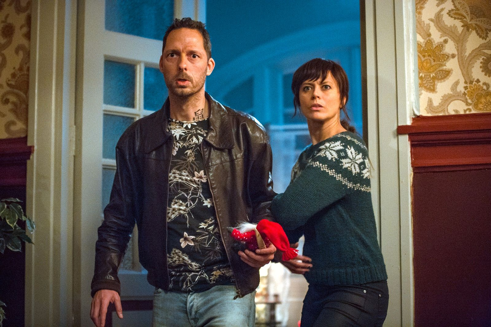 POPULÆR: Ine Jansen spiller Nanna og Trond Fausa Aurvåg spiller Svein i Jul i Blodfjell. Så langt har over 600.000 sett hver av de tre første episodene.
