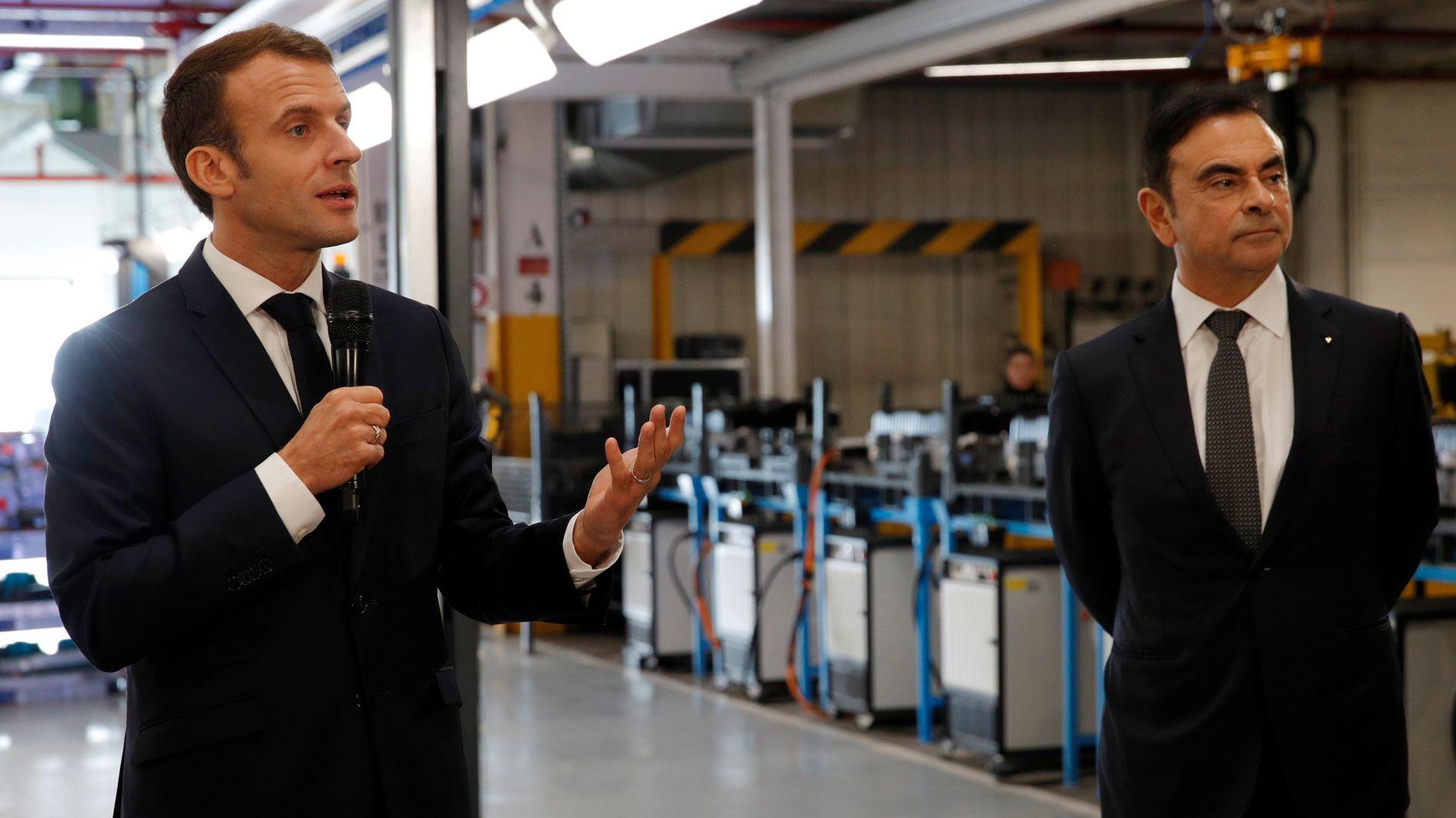 Bloomberg: Macron måtte følge Ghosn-saken gjennom mediene