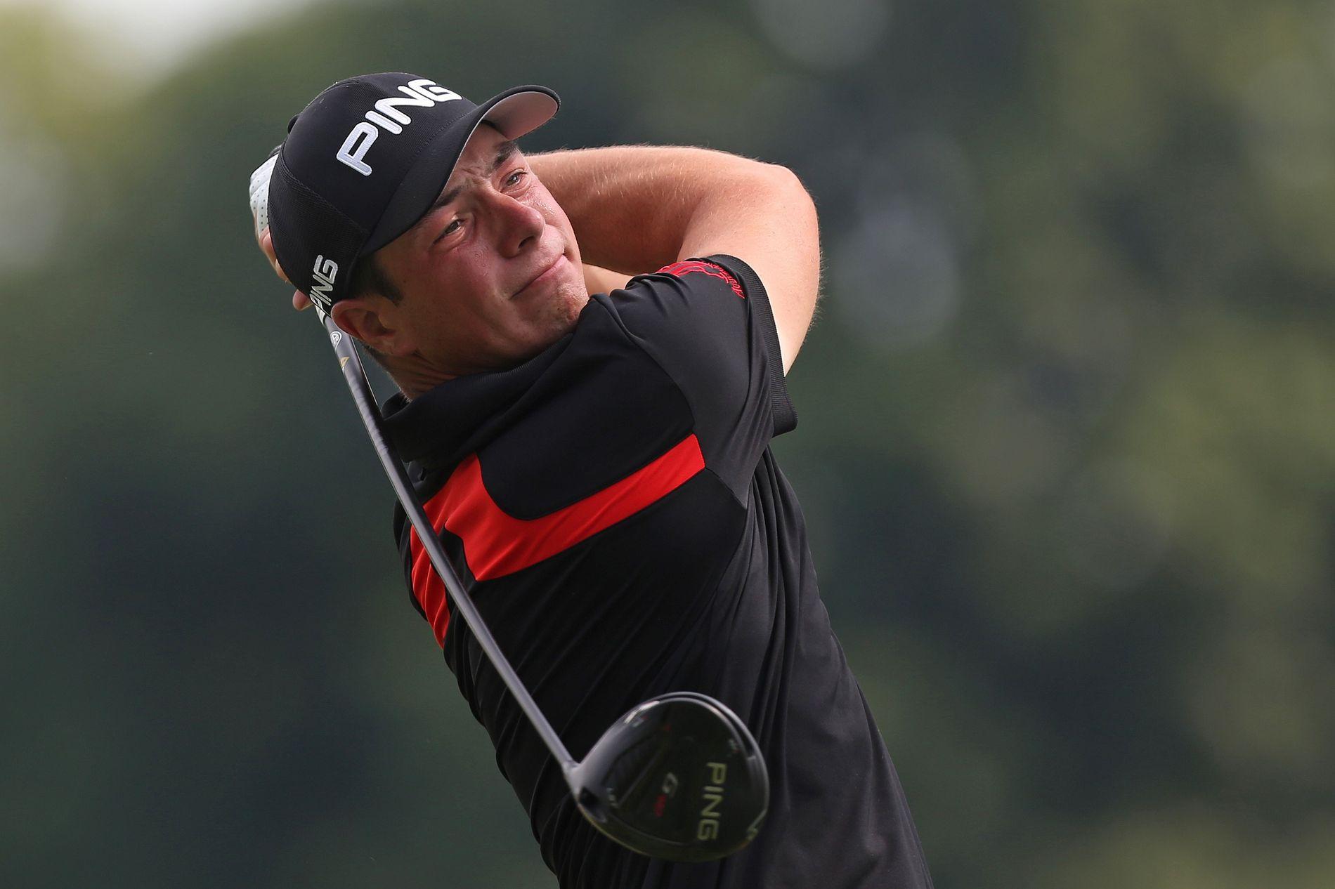 TALENT: 21 år gamle Viktor Hovland imponerte lenge i Ohio, men må fortsette å jakte PGA Tour-kortet.